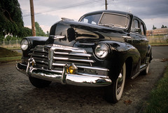 Untitled (photofixpdx) Tags: auto classic 1948 chevrolet film car oregon 35mm portland slide scan chrome pdx fleetmaster nikoncoolscan5000