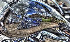 Harley reflections (Trojan Photography) Tags: art graphicart reflections painting photography nikon painted harley reflected motorbike photograph harleydavidson motorcycle handheldhdr hdrnikon nikonhdr