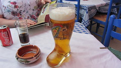 Rhodes Boot o' beer (deltrems) Tags: beer bar boot restaurant cola coke ashtray coca rodos rhodes