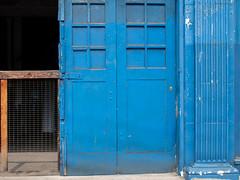 Blue Doors (Chosen at Random) Tags: door blue decay m42 manualfocus e420 vivitar28mm25