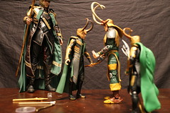 Photo Shoot5 (Black Rose Bride) Tags: toys loki marvellegends marvel minion theavengers hottoys emeraldino granddaddyloki lordkaiju