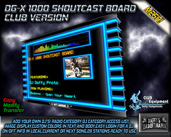 DG-X 1000 Shoutcast Board~CLUB Version~ (.*Daffy Proto*.) Tags: party music broadcast bar club radio code stream dj sam system event commercial customer winamp schedule icecast shoutcast