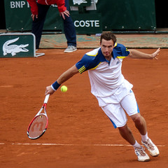 Ernests Gulbis (y.caradec) Tags: paris france sport court lumix europe open redclay player tennis roland terre iledefrance f28 rolandgarros tourney ernests garros 2