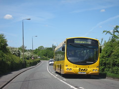 You can go 'Two' (Lady Wulfrun) Tags: nottingham two bus yellow eclipse volvo bend trent barton wright nottinghamshire ilkeston hedges trowell notts 742 b7rle trentbarton b45f urbiszx3 fj09xpa