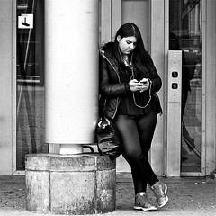 people bw blancoynegro girl monochrome tattoo square... (Photo: Akbar Simonse on Flickr)