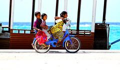 born to fish... (f i  a s) Tags: ocean sea fish bicycle kids canon children island parents coast boat fishing village south coastal maldives baa atoll maalhos dhoni firas goidhoo eos500d uniquemaldives firax madulu dhekunuburi maalhosmaduluburidhekunuburi