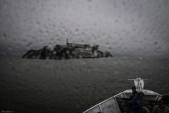 the right day to visit alcatraz (DanMasa) Tags: sanfrancisco rain barca prison alcatraz pioggia battello gocce prigione carcere