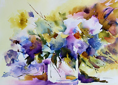 apaisee (veroniquepiaser-moyen) Tags: flowers flower art fleur fleurs watercolor painting drawing aquarelle peinture bouquet artcontemporain bouquets toile pigments moyen contemporaine chssis piaser piasermoyen vroniquepiaser vroniquemoyen vroniquepiasermoyen