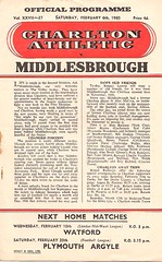 Charlton Athletic v Middlesbrough (Charlton Athletic Programmes) Tags: middlesbrough charlton charltonathletic 5960