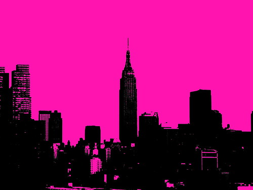 New York city skyline pop art