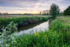 Keersop near Achelse Kluis (Joep de Groot) Tags: morning trees summer grass clouds sunrise early stream achelsekluis grooteheide keersop