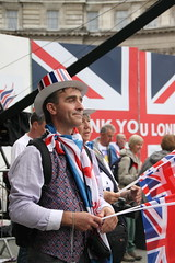 Team GB fans in London for the Olympic Victory Parade (Ian Press Photography) Tags: people london square jack happy person britain flag union great joy trafalgar happiness patriotic celebration gb british olympic olympics celebrating 2012 paralympics london2012