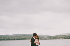 . (// The Kitcheners //) Tags: wedding sea love landscape island groom bride scotland hug couple romantic arran