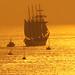 El buque escuela Juan Sebastián de Elcano en Bayona