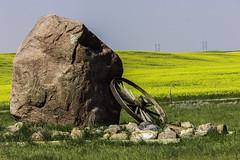 Field marker (poormommy) Tags: field stone canon saskatchewan 1001nights wagonwheel challengegroupgamewinner friendlychallenges 1001nightsmagiccity