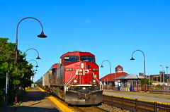 Passing through Dorval (Michael Berry Railfan) Tags: train quebec montreal canadianpacific cp ge dorval generalelectric tankcars gevo es44ac unittrain cp8876