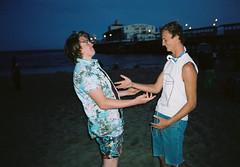 Day 268/365 (Freakin' David) Tags: ocean friends boy portrait beach night analog 35mm jack fun olympusstylusepic mood emotion artistic kodak teens gaz lifestyle 400 passion approved portra timeless