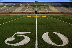 Midfield (andrewfhart) Tags: usa college sports mi football stadium michigan annarbor 2006 um 50 ncaa bighouse turf wolverines midfield 50yardline