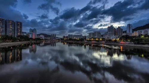 如上以下 As above, so below / 香港沙田城門河 之寧 Hong Kong Shatin Shing Mun River Serenity (HDR Timelapse) / SML.20130807.6D.25087-SML.20130807.6D.25677-HDR-PPTM-TL