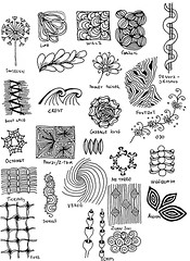 Zentangle #121 - Inspiration Page (hilda_r) Tags: art drawing doodles inkdrawing lineart linedrawing doodleart zentangle zentangles