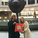"Washington, D.C.: Linda and Jen '03 McGee hold their Clemson Tiger Paw in front of the tiger zodiac head which is part of Ai Weiwei's Circle of Animals/Zodiac Heads in front of the Smithsonian's Hirshhorn Museum. • <a style=""font-size:0.8em;"" href=""http://www.flickr.com/photos/49650603@N07/9801727885/"" target=""_blank"">View on Flickr</a>"