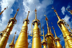 Pagoda forest (PeterCH51) Tags: lake forest temple golden pagoda burma buddhist myanmar inle indein pagodaforest shweindein shweinnthein indeintemple peterch51 innthein