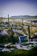 in the heart of the nature (Csaba Varju) Tags: nature strange television trash landscape scotland weird tv nikon rubbish d5100