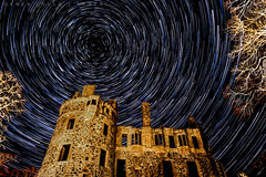 Huntly Castle Startrail #2