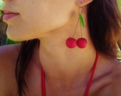 Cherry earrings Handmade earrings Polymer clay earrings Summer earrings Red earrings Fruit earrings Silver earrings Birthday present (denadashandmade) Tags: birthdaypresent handmadeearrings silverearrings redearrings summerearrings cherryearrings polymerclayearrings presentforher fruitearrings denadashandmade denadapalla