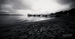 (malinravander) Tags: ocean morning bw beach blackwhite sweden stockholm second havsbad