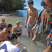 TNS students doing marine biology research during an
