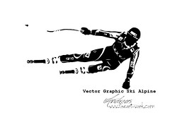 Vector Graphic Ski Alpine by www.fineart-work.com (photography.andreas) Tags: ski graphic alpine vector vectorillustration 365days 365project dailysketchchallenge 3652015 365dailysketches