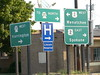 022-02 USA, Washington, Davenport, Traffic Signs Outside Motel (Aristotle13) Tags: washington wa davenport 2007 usavacation