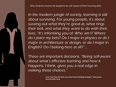Educational Postcard about the importance of teaching self-awareness (Ken Whytock) Tags: people students modern major bell who good young rings where jungle learning lives choices society important decisions surviving effective selfawareness informing sussing