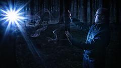 Just like magic (Tim Bger Photography) Tags: blue portrait man black germany deutschland scary europe sony magic flash cologne kln markus leverkusen strobbist sonyalpha6000