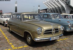 Golden Borgward Wagon (Schwanzus_Longus) Tags: family classic beauty car station silver germany wagon gold golden break german oldtimer isabella bremen combi kombi motorshow beautyful borgward goldgolden oldclassic