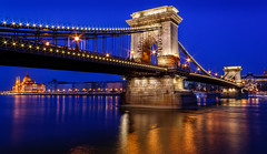 Chain Bridge (davecurry8) Tags: night river lights hungary budapest parliament bluehour danube pest chainbridge