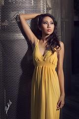 Coco (akachoke) Tags: portrait people beauty fashion yellow canon asian speedlight niftyfifty xti 400d yn560