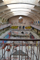 Bathhouse (urbexbandoned) Tags: abandoned architecture stairs graffiti swimmingpool urbanexploration curvature bathhouse urbex derelictpool derelictuk ukurbex