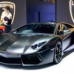Black Lamborghini Aventador at the 36th Bangkok International Motor Show thumbnail