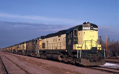 Tough to See (ac1756) Tags: michigan 1987 northwestern alco escanaba stored cnw 6712 c628 number6oreyard