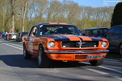Ford Mustang 289 1965 (Monde-Auto) Tags: auto orange ford automobile course mustang coup 289 etatsunis comptition