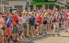 looking back (2) (stevefge (away travelling)) Tags: street people netherlands race nijmegen cycling candid nederland bikes bicycles giroditalia nederlandvandaag reflectyourworld