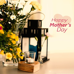 HAPPY MOTHER'S DAY  (Lumins) Tags: flowers light sun flower love photoshop happy spring thankyou heart live text mother may mama mum card gift happymothersday spuare
