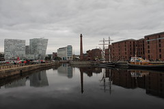 IMG_0250 (A W Sharp) Tags: reflection building water liverpool canon dock albert 1100d canon1100d