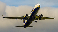 Ryanair Boeing 737-800 Departing GLA (Brian Travelling Getty Contributor) Tags: sky plane airplane inflight glasgow aircraft flight jet boeing ryanair paisley takeoff airliner gla 737 glasgowinternationalairport 737800 boeing737800 boeing737
