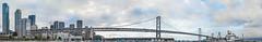 bell m shimada at pier 30 panorama (pbo31) Tags: sanfrancisco california city bridge sky urban panorama color skyline bay spring nikon marine ship may large vessel panoramic baybridge embarcadero sail 80 southbeach stitched 2016 pier32 boury pbo31 pier30 d810