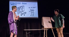 """Chastity Bear""  King Wartleby Concocts A Plan to Abolish Fucking (Shrieking Tree) Tags: comedy live stage iowa ia acting desmoines sketchcomedy dogandponyshow dogponyshow"