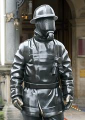 Citizen Firefighter (donachadhu) Tags: citizenfirefighter glasgow scotland sculpture centralstation city urban hero sonya700