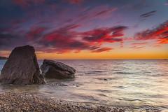 Catching the sunset (kasand) Tags: sunset seascape beach rocks southaustralia